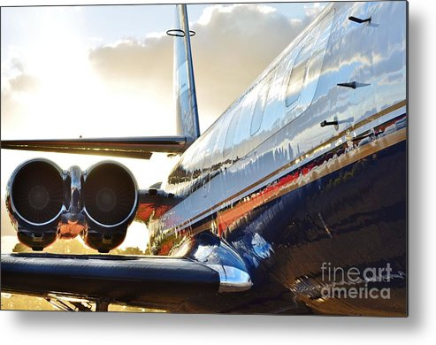 Lockheed Metal Print featuring the photograph Lockheed Jet Star Side View by Lynda Dawson-Youngclaus