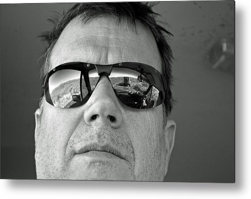 Self Portrait Metal Print featuring the photograph Long Day In The Desert by Timothy Johnson
