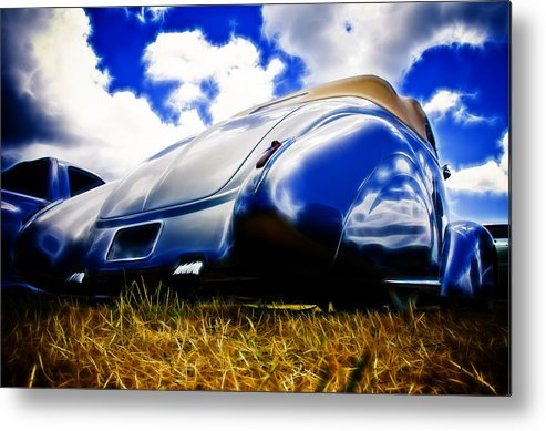 Ford Metal Print featuring the photograph Low Ford Roadster by Phil 'motography' Clark
