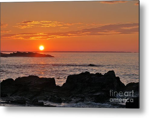 Seascape Metal Print featuring the photograph Maine Sunrise by Christine Tobolski