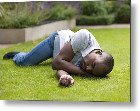 Healthcare Metal Print featuring the photograph Man In Recovery Position by
