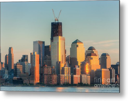 Clarence Holmes Metal Print featuring the photograph Manhattan Sunset Reflections by Clarence Holmes