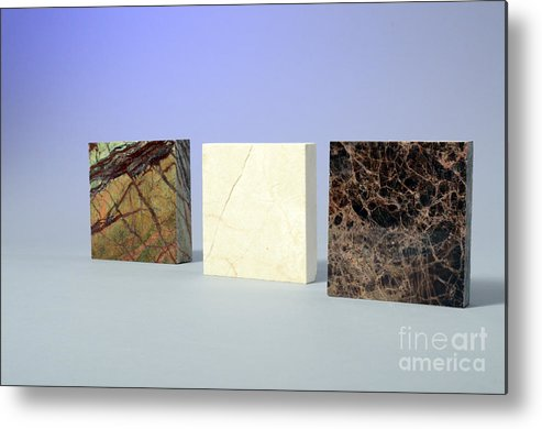 Geology Metal Print featuring the photograph Marble by Photo Researchers, Inc.