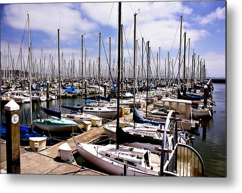 Sailing Metal Print featuring the photograph Marina by Sean Gillespie