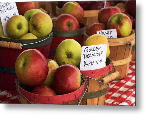 Apples Metal Print featuring the photograph Market Apples by Cheryl Cencich