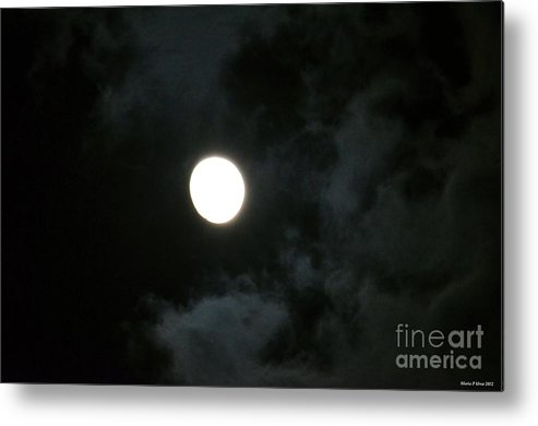 Menacing Moonlight Metal Print featuring the photograph Menacing Moonlight by Maria Urso