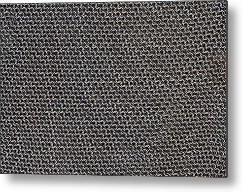 Mesh Metal Print featuring the photograph Metal Meshwork by Dirk Wiersma
