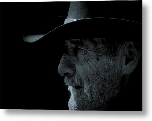 Cowboys Metal Print featuring the photograph Midnight Cowboy by Christine Till