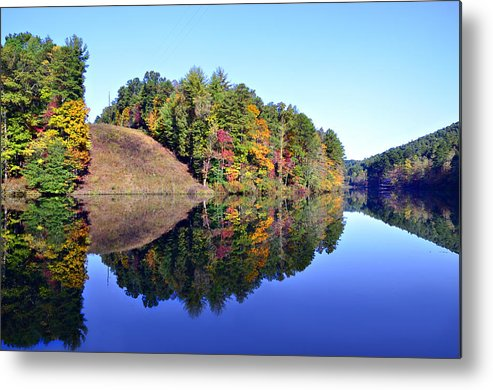Landscape Metal Print featuring the photograph Mirror Image by Susan Leggett