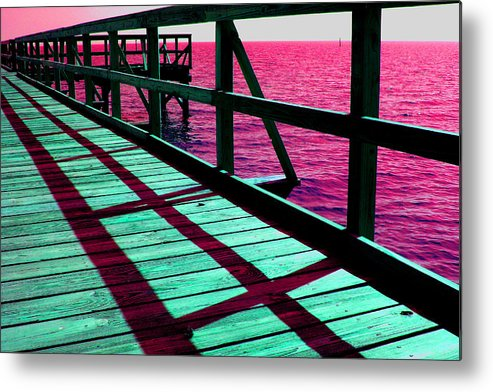 William Meemken Metal Print featuring the photograph Mississippi Pier - Ver. 9 by William Meemken