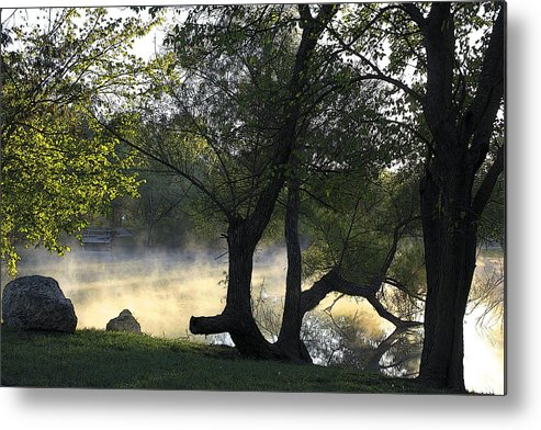 Mist Metal Print featuring the photograph Mist On The Water by Barbara Dean