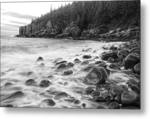Acadia National Park Metal Print featuring the photograph Misty Flow by Bernard Chen