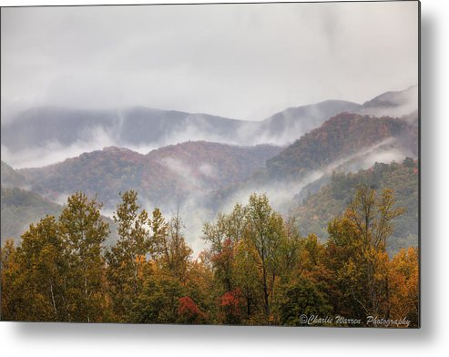 Great Smoky Mountains Metal Print featuring the photograph Misty Morning I by Charles Warren