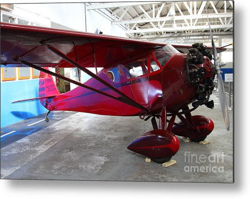 Airplane Metal Print featuring the photograph Monocoupe 110 . 7d11144 by Wingsdomain Art and Photography
