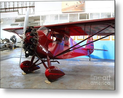 Airplane Metal Print featuring the photograph Monocoupe 110 . 7d11149 by Wingsdomain Art and Photography