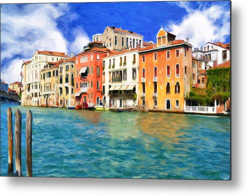 Morning Metal Print featuring the painting Morning In Venice by Dominic Piperata