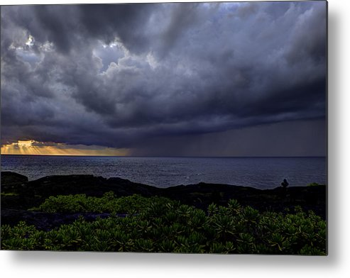 Sunrise Metal Print featuring the photograph Morning Squall by Mike Herdering