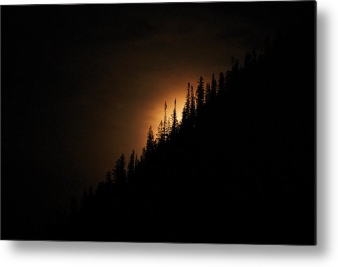 Landscape Metal Print featuring the photograph Mountain Glow by Lisa Spencer