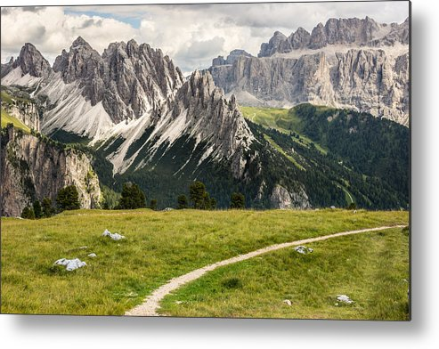 Horizontal Metal Print featuring the photograph Mountains by Fibru Photography
