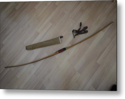 Bow Metal Print featuring the photograph My Boyhood Bow by Lawrence Christopher