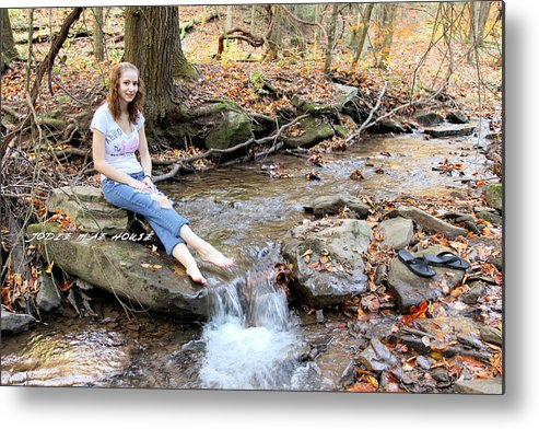 Girl Metal Print featuring the photograph My Niece 5 by Carolyn Postelwait