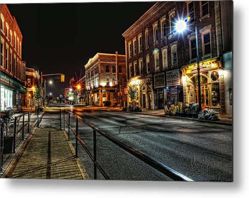 Xdop Metal Print featuring the photograph Napanee After Midnight by John Herzog