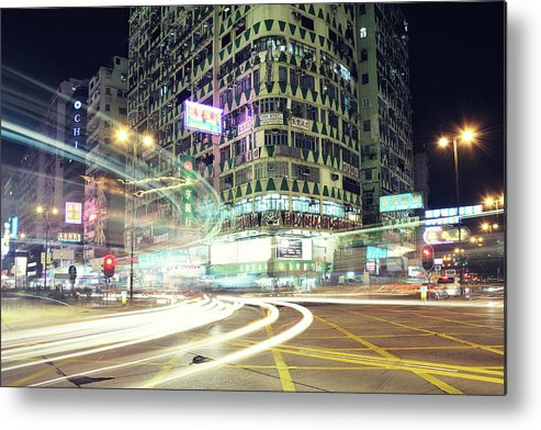 Horizontal Metal Print featuring the photograph Nathan Road by Thank you for choosing my work.