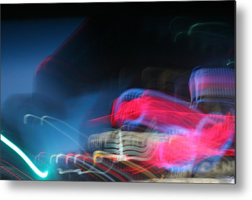 Neon Metal Print featuring the photograph Neon Nights by Rick Rauzi