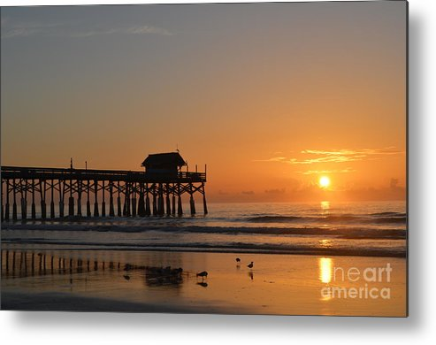 Sunrise Metal Print featuring the photograph New Day On The Beach by Carol McGunagle