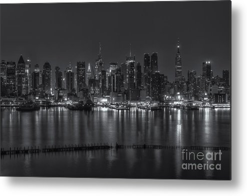 Clarence Holmes Metal Print featuring the photograph New York City Skyline Morning Twilight Xvi by Clarence Holmes