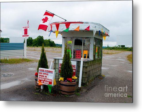 Drive-in Metal Print featuring the photograph North York Drive-in Box Office by Gary Chapple