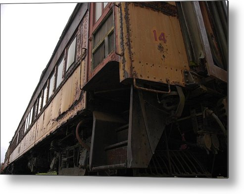 Train Metal Print featuring the photograph Number 14 by Darcy Dekker