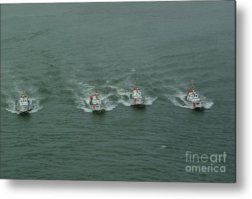 Coast Guard Metal Print featuring the photograph Off To The Rescue by Bruce Borthwick
