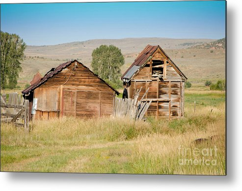 Homestead Metal Print featuring the photograph Old Building Woodruff Utah by Donna Greene