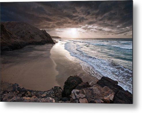 Horizontal Metal Print featuring the photograph Old King Beach by Photography by Juances