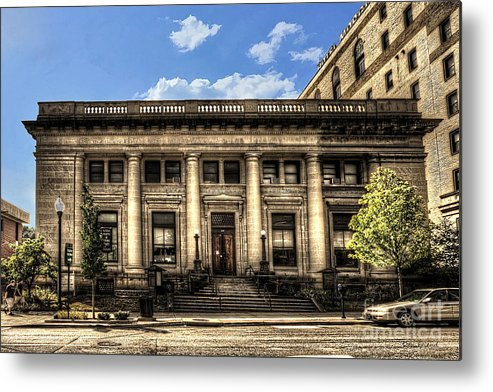 Old Post Office Metal Print featuring the photograph Old Post Office Morgantown Wv by Dan Friend