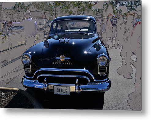 Oldsmobile Metal Print featuring the photograph Olds 50 by Larry Bishop