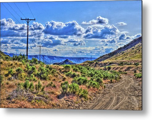Arid Metal Print featuring the photograph One Desert Drive by S R Longstroth