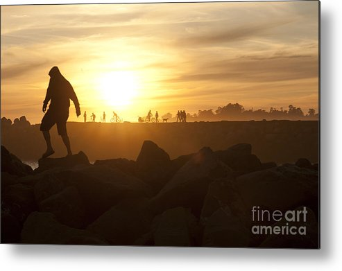 Silhouette Metal Print featuring the photograph Ordinary Day Extraordinary Life by Artist and Photographer Laura Wrede