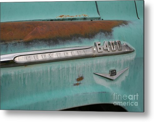 Metal Print featuring the photograph Oreana Chevy by Ken Riddle