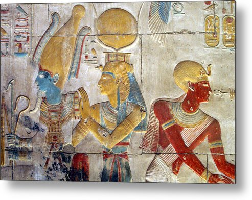 Horizontal Metal Print featuring the photograph Osiris And Isis, Abydos by Joe & Clair Carnegie / Libyan Soup