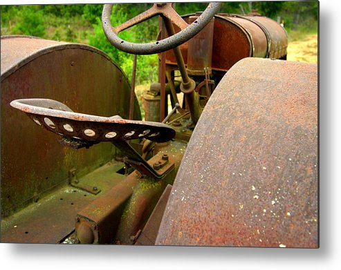 Tractor Metal Print featuring the photograph Out To Pasture by Susan Camden