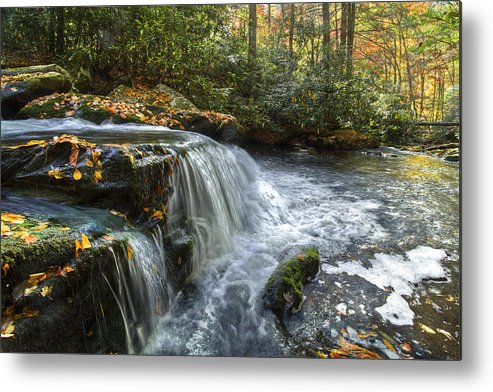 Appalachia Metal Print featuring the photograph Over The Edge by Debra and Dave Vanderlaan