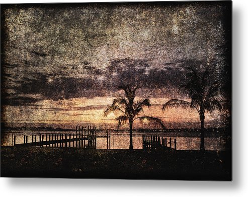 Absence Metal Print featuring the photograph Palms And Docks by Skip Nall