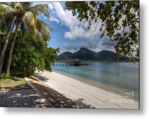 Beach Metal Print featuring the photograph Paradise Island by Adrian Evans