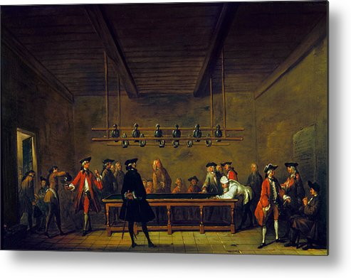 1725 Metal Print featuring the photograph Paris: Billiards, 1725 by Granger