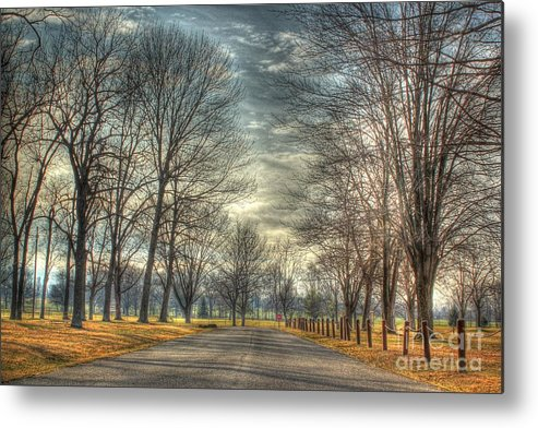 Hdr Metal Print featuring the photograph Park Road by Jeremy Lankford