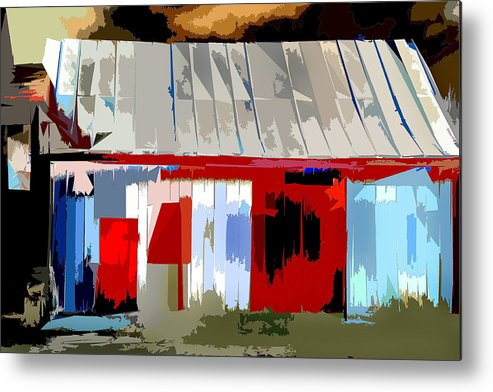 Barn Metal Print featuring the photograph Patchwork Barn by Burney Lieberman