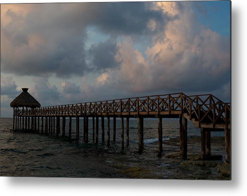 Mexico Metal Print featuring the photograph Pier Into Dawn by Barry Doherty
