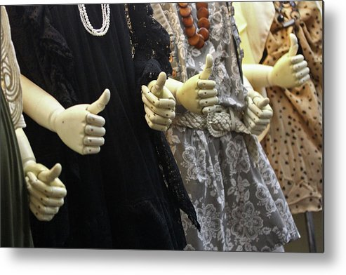 Thumbs Up Metal Print featuring the photograph Plastic Encouragement by Paul Madura